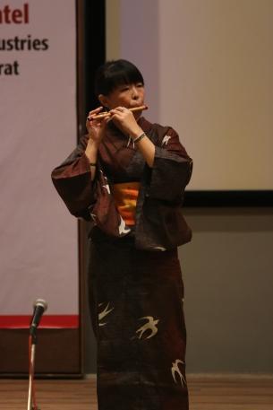 Ashihara Sensei on her flute