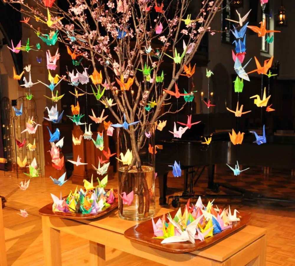 origami-cranes-in-the-cathedrals-narthex-christ-church-origami-cranes-meaning-origami-cranes-string